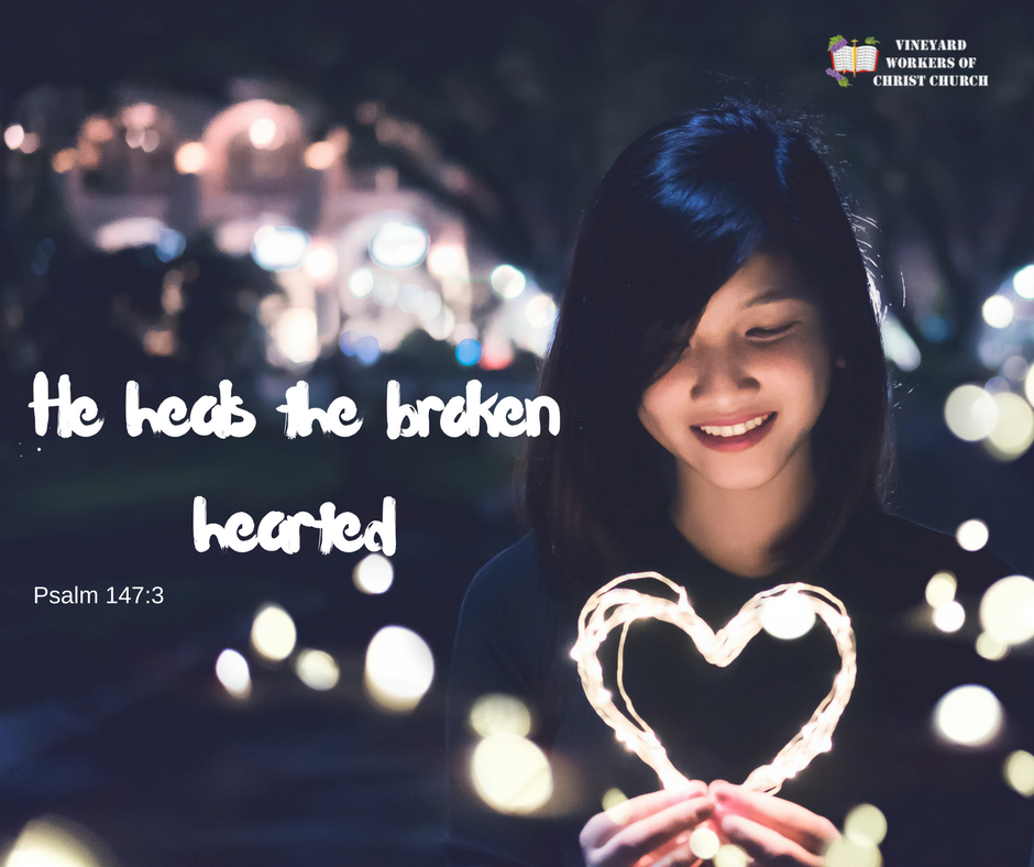 Add headHe heals the broken hearteding