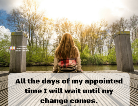 All the days of my appointed time I will wait until my change comes.