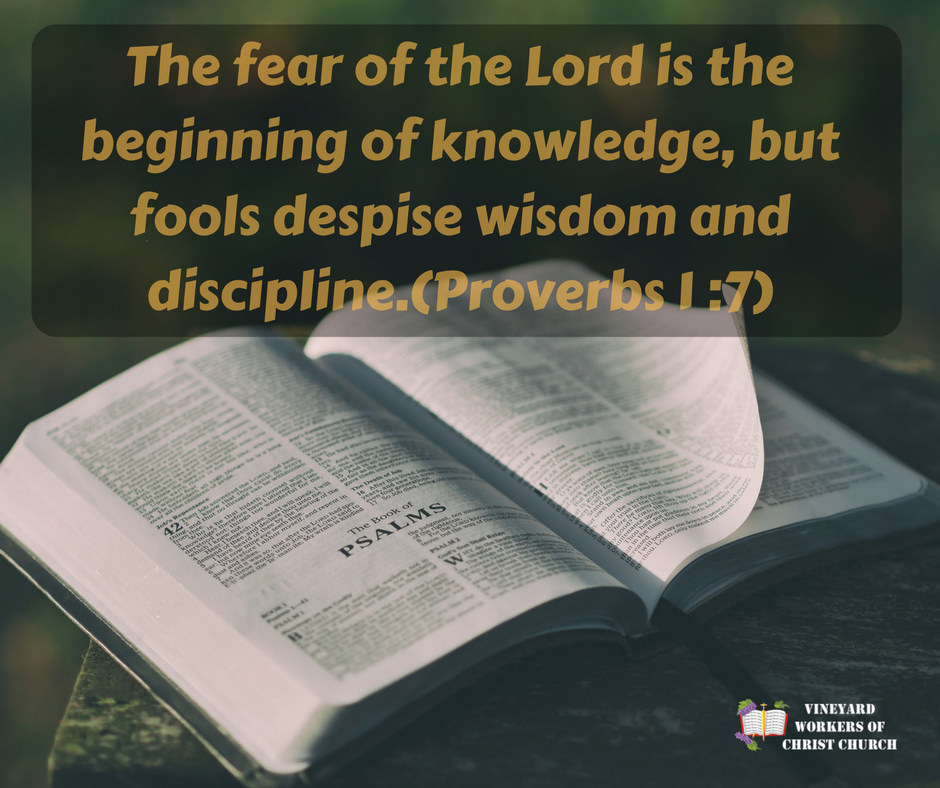 The fear of the Lord is the beginning of knowledge, but fool